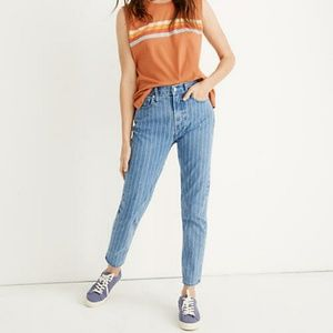 NWT Madewell 28 Pinstripe The Perfect Vintage Crop